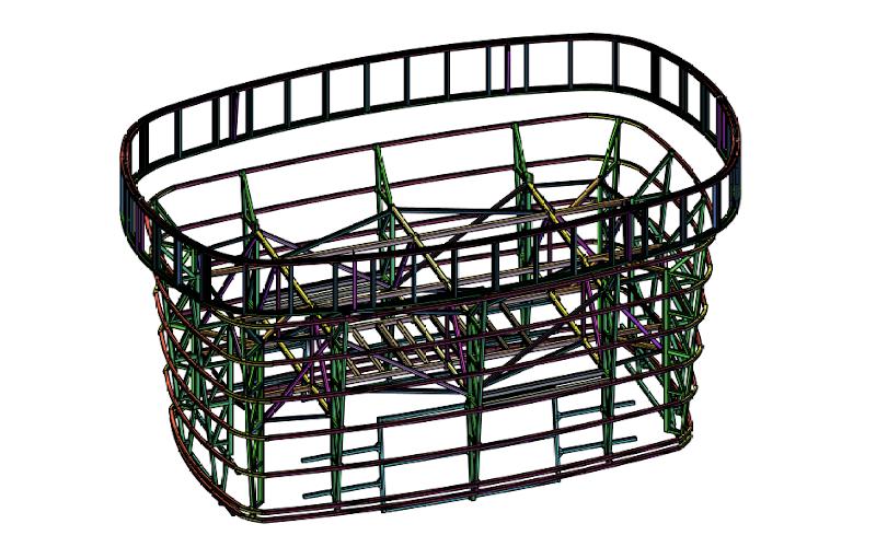 3D render of engineering design
